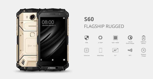 Doogee S60, Smartphone con 6 GB di RAM resistente a tutto in offerta