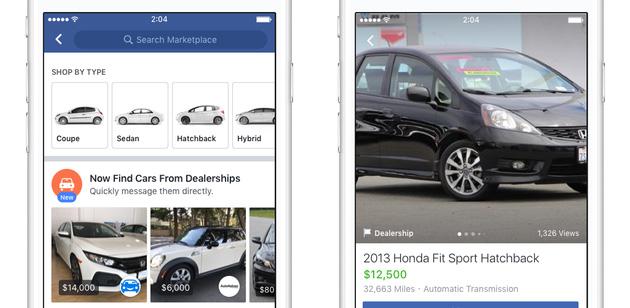 Facebook Marketplace espande gli annunci immobiliari e di auto