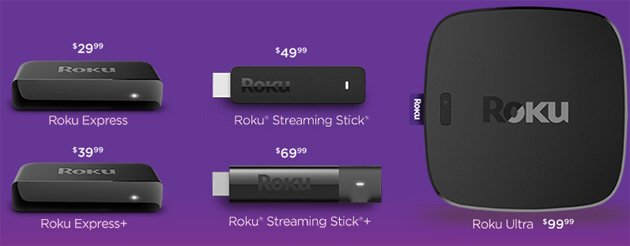 Roku, nuovi Streaming TV Stick e Media Player 2017