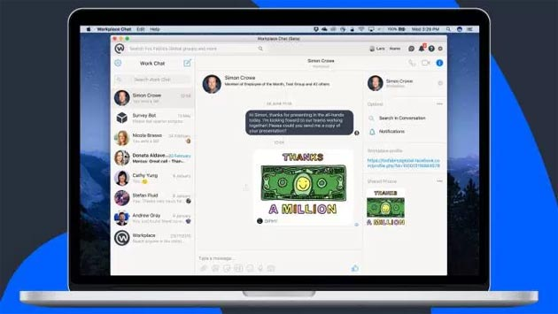Facebook lancia app Workplace Chat per desktop PC e MAC
