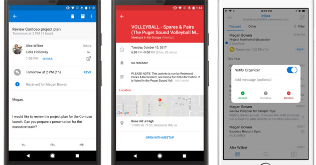 Calendari condivisi in Outlook su Android e iOS