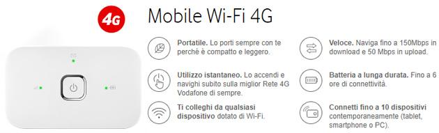 Vodafone Mobile Wi-Fi R216h: offerte Abbonamento Novembre 2017