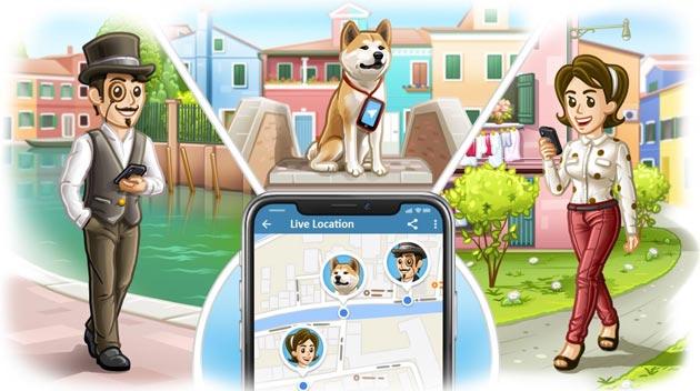 Telegram 4.4: condivisione Posizione in diretta, nuovo Media Player e piattaforma per Traduzioni