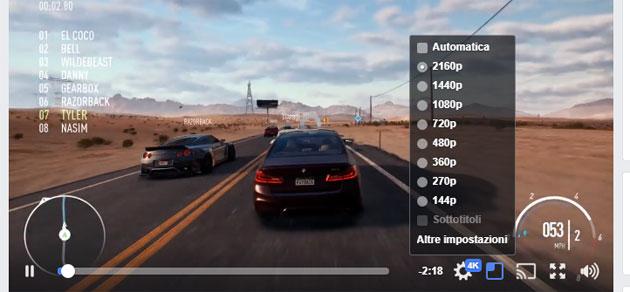 Facebook testa i video 4K