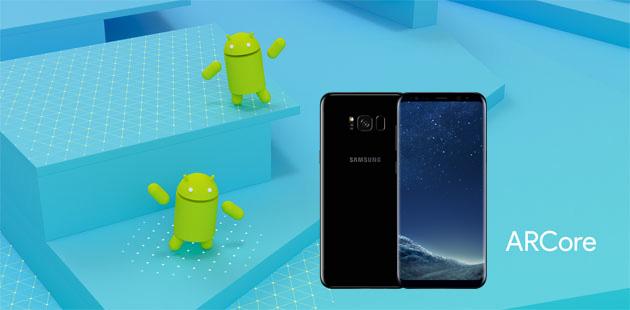 Samsung con ARCore di Google porta la Realta' Aumentata su Galaxy S8 e Note8
