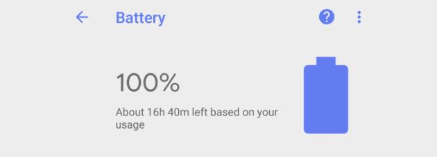App Batteria di Google sul Play Store