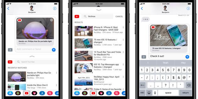 YouTube su iOS si integra con Messaggi