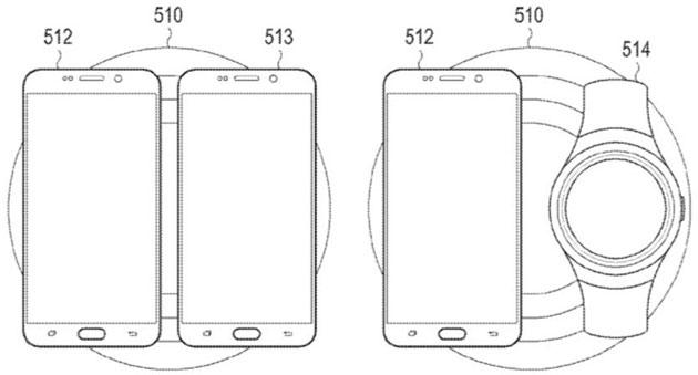 Samsung brevetta Pad che Ricarica Wireless due dispositivi insieme