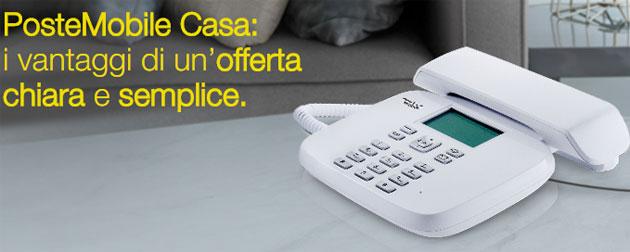 PosteMobile Casa, servizio di telefonia fissa su rete mobile PosteMobile