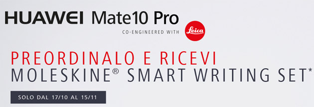 Huawei Mate 10 Pro, kit Smart Writing in regalo a chi preordina