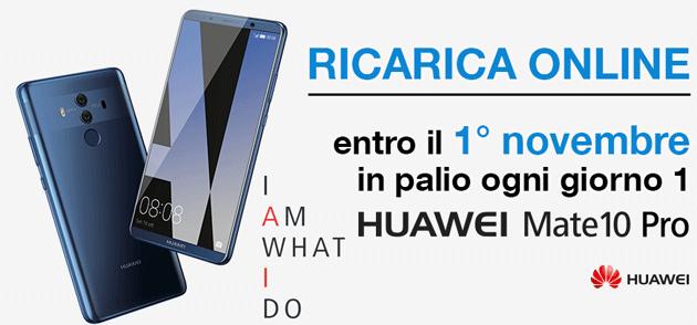 3 Italia regala Huawei Mate 10 Pro con Ricarica Online e Vinci [fino al 1 novembre]