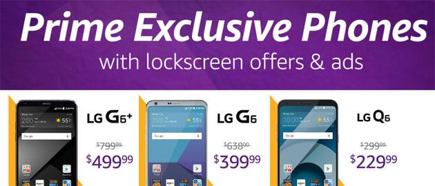 Amazon Prime Exclusive sconta LG G6 e Nokia 6 a chi accetta di vedere offerte speciali sul display