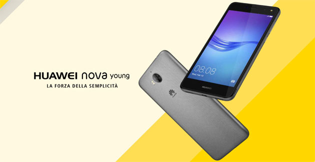 Huawei Nova Young, smartphone Android con display 5 HD, batteria 3000mAh, CPU QuadCore e 2GB RAM