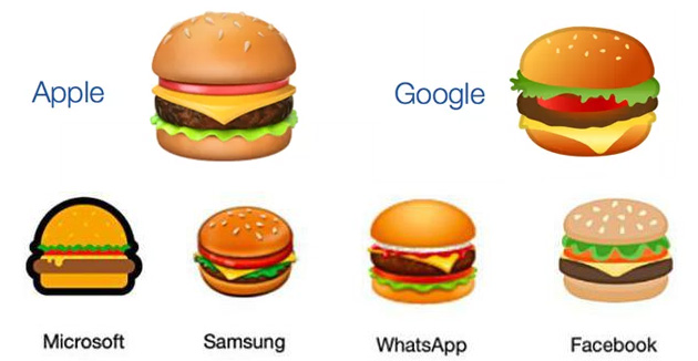 Google corregge la sua emoji del cheeseburger in Android 8.1