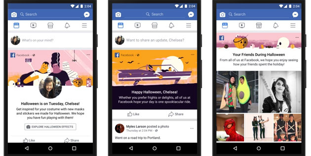 Facebook, Messenger e Instagram per Halloween 2017
