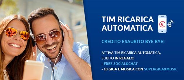 TIM Ricarica Automatica regala Giga e Musica