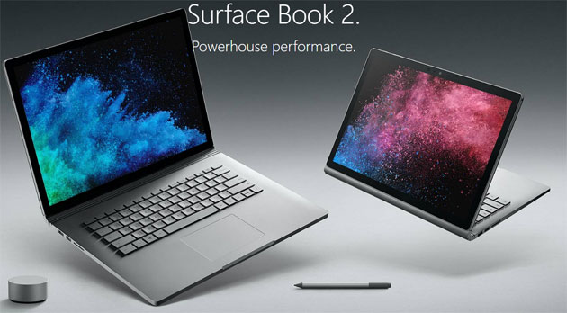 Microsoft Surface Book 2 in Italia