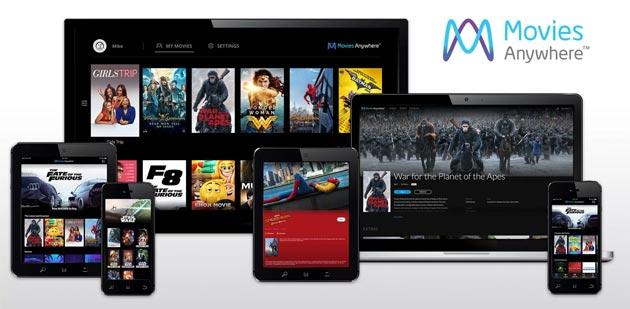 Movies Anywhere combina in una le libreria di film acquistati su iTunes, Google Play e altri servizi