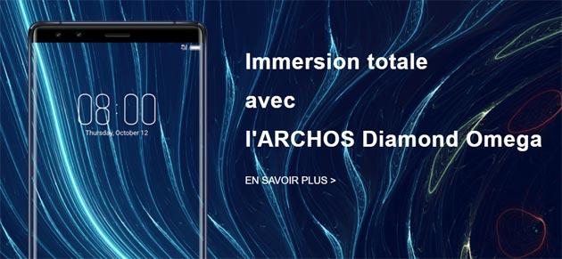 Archos Diamond Omega, smartphone Android con display borderless, quattro fotocamere e 8GB di RAM
