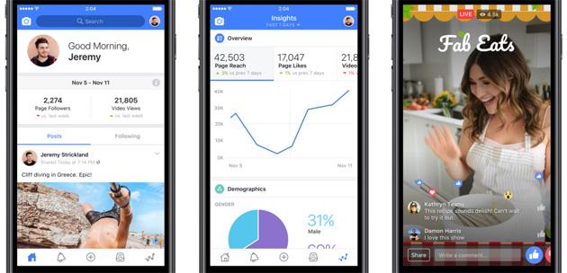 Facebook lancia app e sito web con strumenti per creatori di video