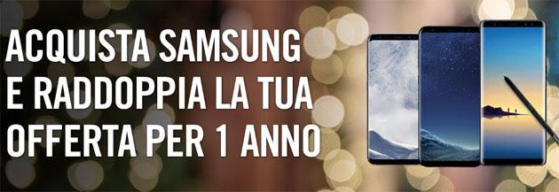 Wind, acquistando Samsung raddoppia l'offerta per 1 anno per Natale