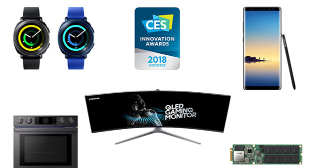 Samsung vince 36 CES 2018 Innovation Awards per design e ingegneria