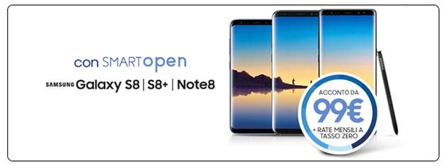 Samsung Smart Open per S8, S8 Plus e Note8: acquisti oggi e cambi Galaxy dopo un anno
