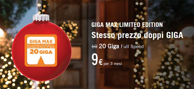 Wind Giga Max Limited Edition per Natale raddoppia i giga a 20 da usare in 3 mesi [fino al 21 gennaio]