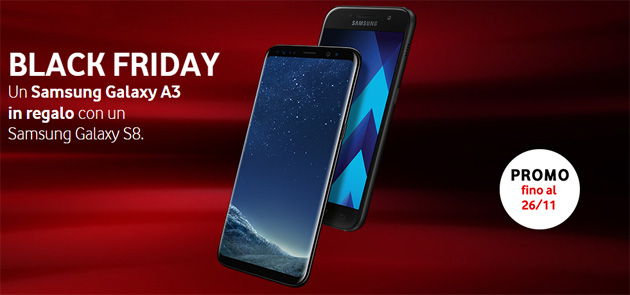 Foto Vodafone per Black Friday regala Samsung Galaxy A3 2017