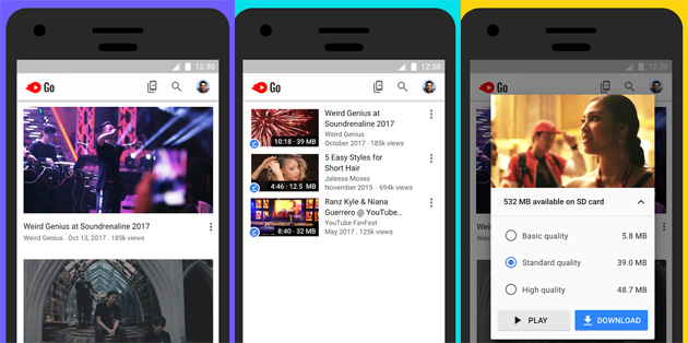 YouTube Go, versione 'leggera' di Youtube che scarica video offline disponibile in 130 paesi