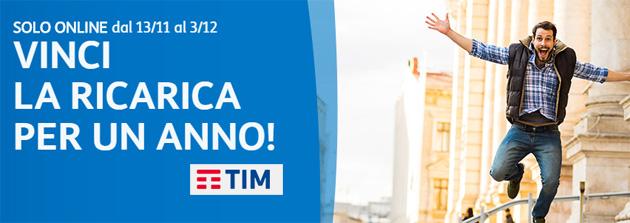 TIM regala a 30 clienti una Ricarica da 250 euro: come provare a vincere