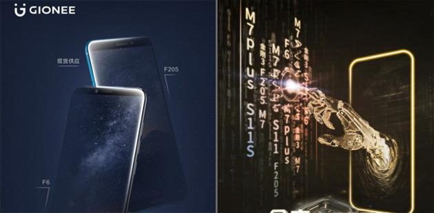 Gionee F6 e F205, i teaser ufficiali