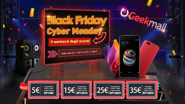 Geekmall sconta tutto il catalogo per il Black Friday