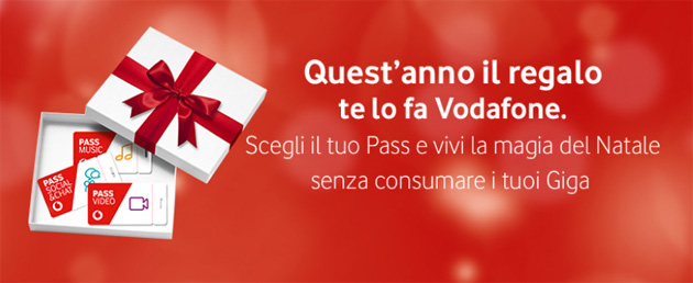 Vodafone per Natale 2017: Pass in regalo, Christmas e Junior Pack, smartphone 4G da 9,99 euro