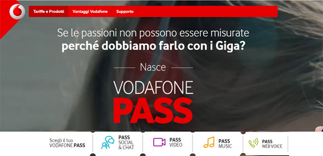 Vodafone Pass: Social e Chat, Video, Music e Web Voice [fino al 20 novembre 2017]