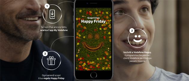Vodafone Happy Friday il 24 Novembre regala un Vodafone Pass per 1 mese