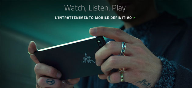 Razer Phone in Italia con display 120Hz, RAM 8GB, batteria 4000mAh, dual camera