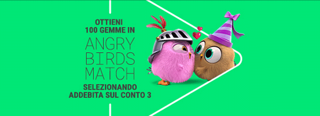 Angry Birds Match, 100 gemme in omaggio per i clienti 3