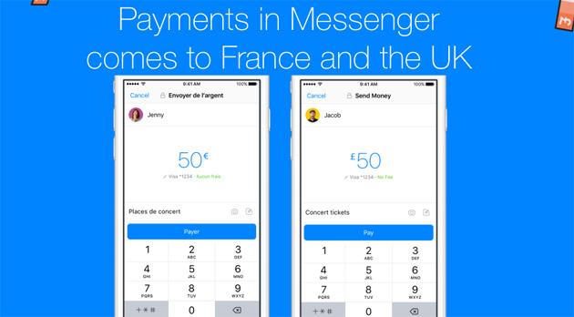 Messenger, lo scambio denaro tra utenti arriva in Francia e Regno Unito