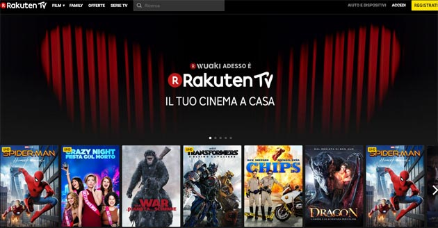 Rakuten TV, servizio streaming di video on demand con film in Ultra HD