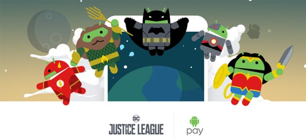 Foto Su Android Pay i supereroi della Justice League