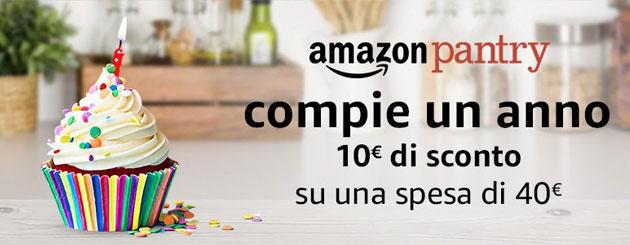 Amazon Pantry festeggia un anno: 10 euro di sconto su spesa di 40 euro