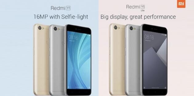 Xiaomi lancia Redmi Y1 e Redmi Y1 Lite