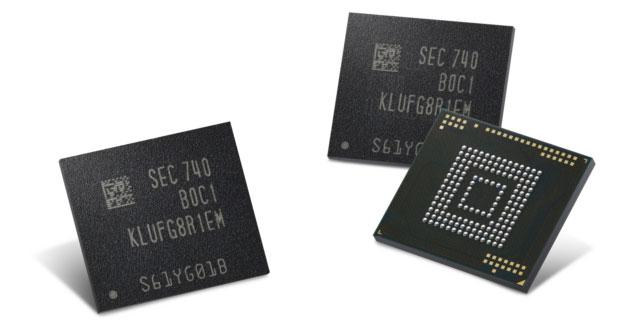 Samsung produce prima memoria da 512GB per smartphone e tablet