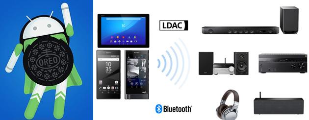 Google e Sony portano LDAC su Android 8 Oreo per audio wireless in alta qualita' via Bluetooth