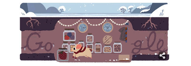Google Doodle al Solstizio d'Inverno 2017