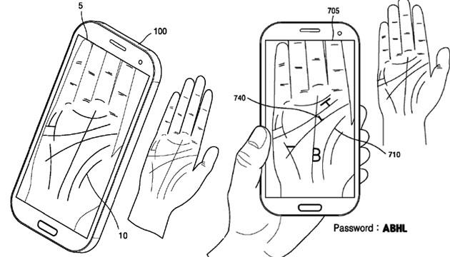 Samsung brevetta la scansione palmare
