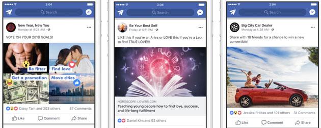 Facebook declassa i post che usano tattiche 'Esca'