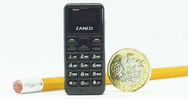 Zanco tiny t1, il telefono piu' piccolo del mondo