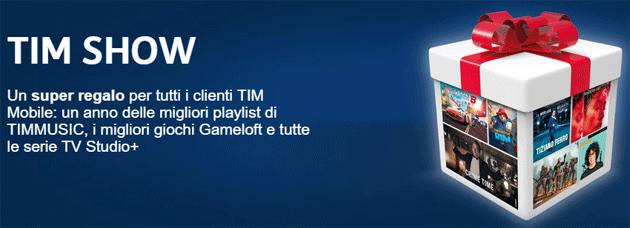 TIM Show regala Musica, Giochi e Serie TV per tutto il 2018